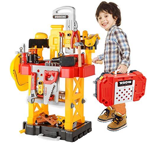 Attrezzi da Lavoro, 83 pezzi Fai finta di giocare a giocattoli per bambini Banco da lavoro giocattolo da...