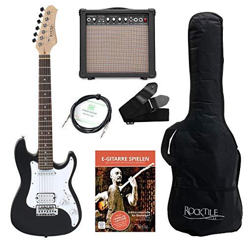 Chitarra elettrica 3/4 Rocktile Sphere Junior incl. Amplificatore colore NERO