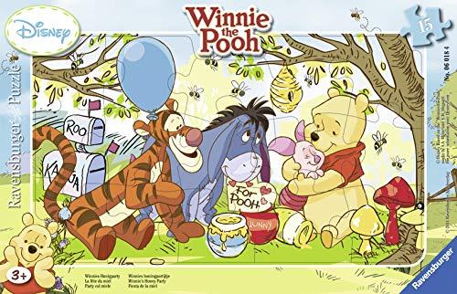 Ravensburger - 06018 4 - Puzzle Incorniciato 15 Pezzi - Winnie The Pooh