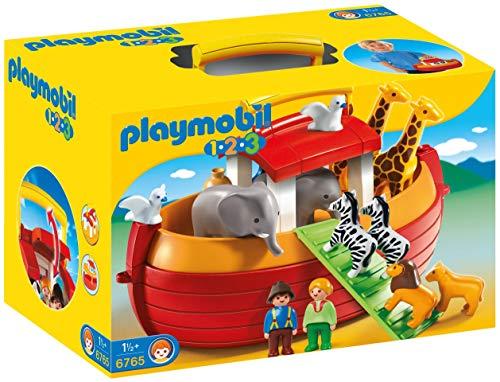 Playmobil 1.2.3 6765 - Arca di Noè Portatile, dai 18 mesi