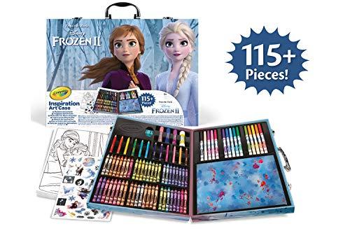CRAYOLA- Valigetta dell'artista Disney Frozen 2, per disegnare e colorare, 115 Pezzi, Multicolore,...