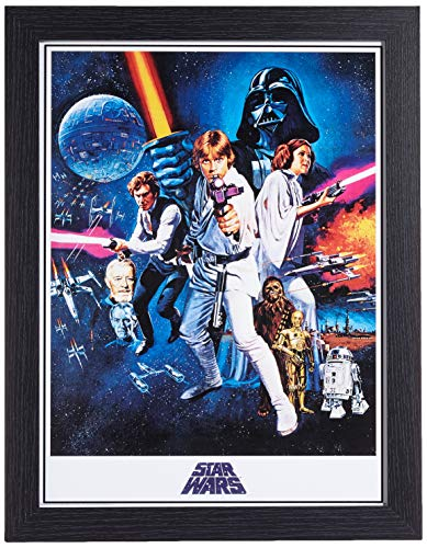 Star Wars Stampa su Tela A New Hope One Sheet Memorabilia, Multicolore, 30 x 40 cm