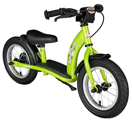 Bikestar, bici da corsa per bambini, 3 anni, con pneumatici e freni, 30,5 cm, edizione classica verde