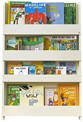Tidy Books - Libreria frontale | Libreria per bambini Montessori | Libreria a muro | Legno Bianco | 115 x...