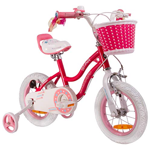 RoyalBaby Star Girl, bici da bambino per bambine, da 3-6 anni, 12-14-16 pollici, con ruote di allenamento...