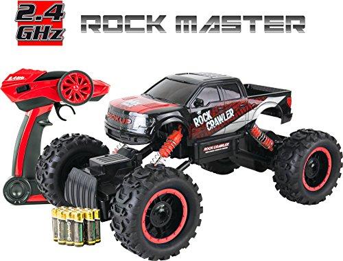 Think Gizmos Auto Veloce Fuori Strada Telecomandata per Bambini (Rosso - Rock Master)