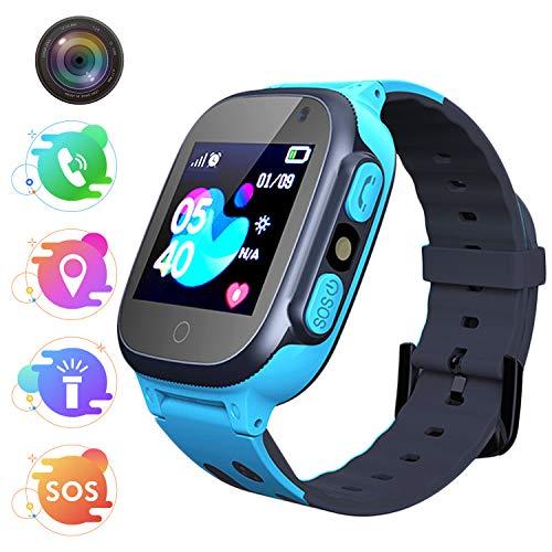 Bambini Smartwatch -Smartwatch per ragazze e ragazzi con Tracker Posiziona Fotocamera Gioco di Matematica...
