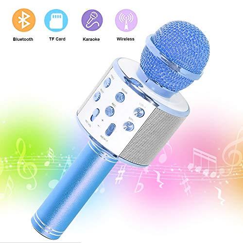 SaponinTree Microfono Karaoke Bluetooth, Wireless Bambini Portatile Karaoke Microfono con Altoparlante...