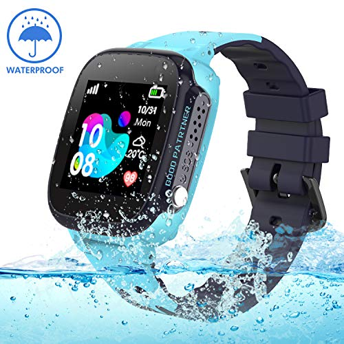 Jslai Bambini Smartwatch IP67 Impermeabile, Waterproof Kids Smart Phone Watch GPS/LBS Tracker Orologio...