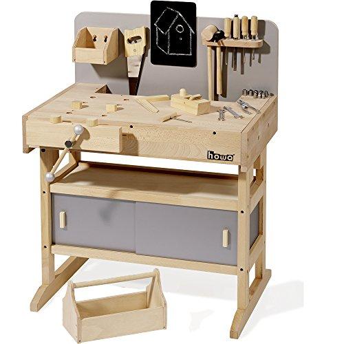 howa Banco da lavoro in legno con cassetta attrezzi da 32 pezzi 4900
