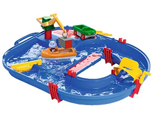 AquaPlay Waterway Toy Set di 21 Pezzi   tavoli da Gioco per Bambini   Contenitore Barca, Auto anfibia,...