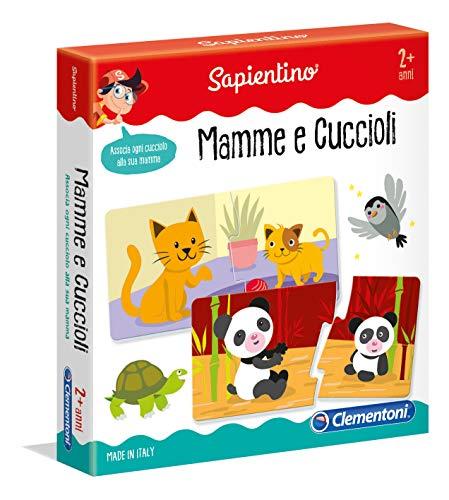 Clementoni - 11969 - Sapientino - Mamme e Cuccioli tessere illustrate, 12 mini puzzle - gioco educativo 2...