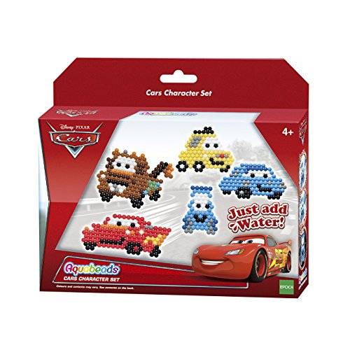 Aquabeads 30128 - Set Di Caratteri Per Auto - Disney Pixar Aqua Beads Craft Playset