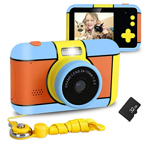 XDDIAS Macchina Fotografica per Bambini, Mini Bambini Fotocamera Digitale con Scheda SD da 32 GB,...