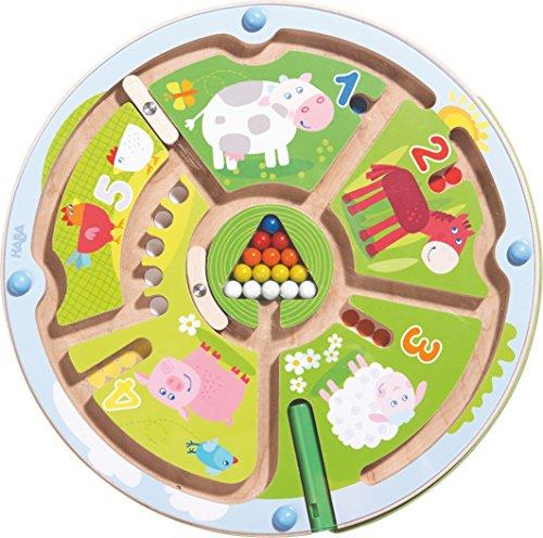 HABA 301473 - Gioco Magnetico con Labirinto numerico, Giocattolo per Bambini dai 2 Anni in su, in Legno