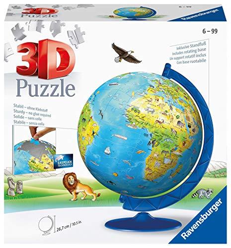 Ravensburger 12340 Globo 3D Puzzle, 180 Pezzi, Multicolore, Età Raccomandata 7-12 Anni, Dimensioni 26.7...