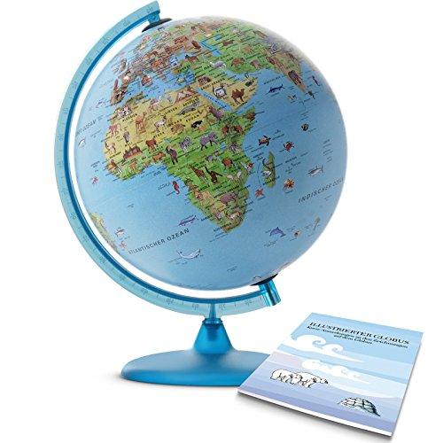 TECNODIDATTICA 0330SASAITKBBG44 - Mappamondo Safari con Libretto, 30 cm
