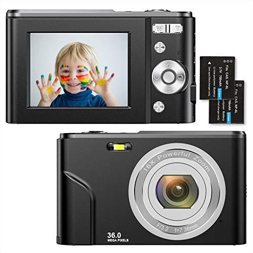 Fotocamere Digitali Compatte 1080P HD Macchina Fotografica 36 Mega Pixel 2,4 Pollici LCD Ricaricabile...