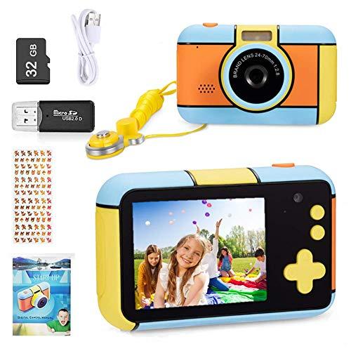 YunLone ToyZoom Macchina Fotografica per Bambini 24MP Fotocamera Digitale 1080P HD Videocamera Obiettivo...