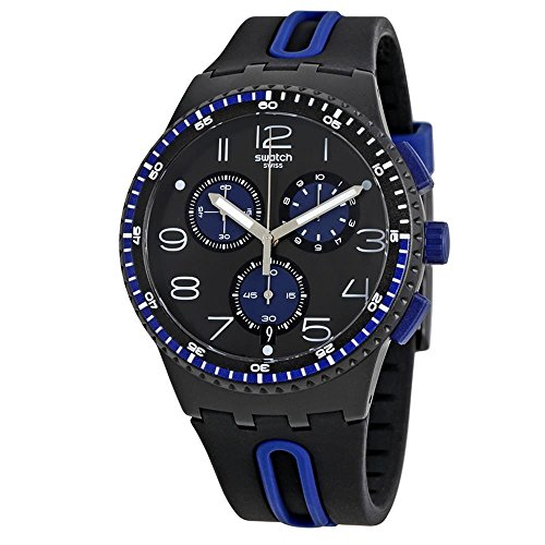 Swatch Orologio da Uomo Digitale al Quarzo con Cinturino in Silicone – SUSB406