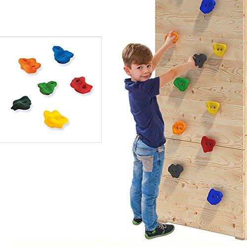 Set Pietre di arrampicata per gioco torre o parete di arrampicata in PE Materiale di fissaggio