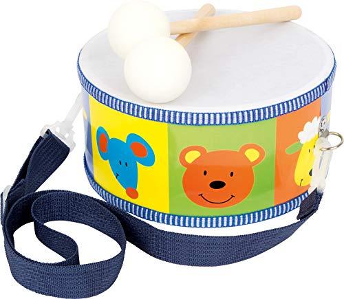 3315 Tamburino Animali small foot in legno, strumento musicale giocattolo per bambini con motivi di...
