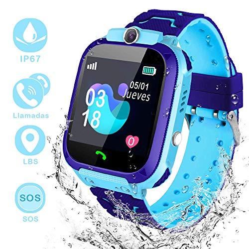 Winnes - Orologio intelligente per bambini, IP67 impermeabile, smart watch con 2 vie, chiamata GPS,...