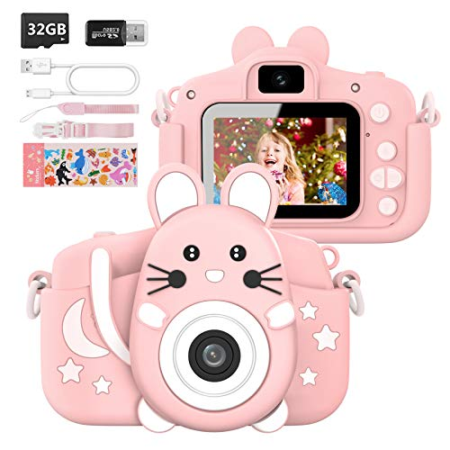 Hangrui Macchina Fotografica per Bambini Fotocamera Bambino con Giochi, 32GB Scheda, Lettore di Schede &...