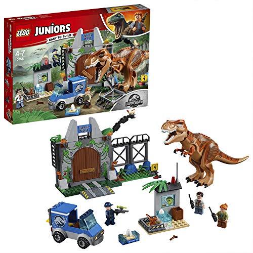 LEGO- Juniors L'evasione del T Rex, Multicolore, 10758