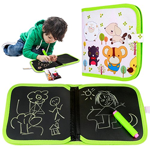 Yosemy Portatile da Disegno per Bambini, Doodle Disegno Giocattoli per Bambini con 3 Gessetti Colorati...
