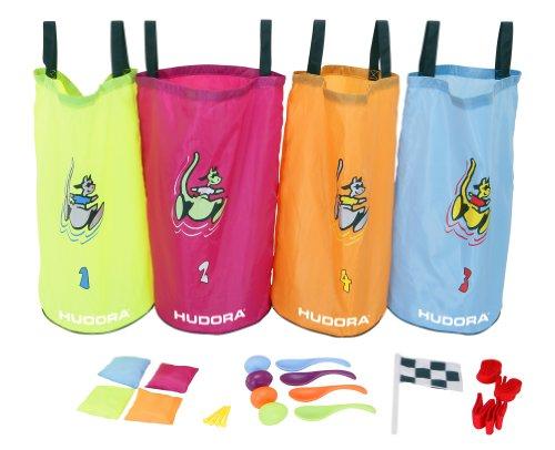 Hudora 76353 - Set Festa Bambini (Sacchi per la Corsa al Sacco e Accessori), 25 Pezzi