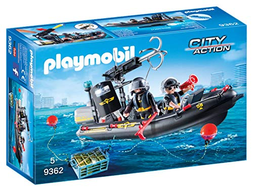 Playmobil City Action 9362 - Gommone Unità Speciale con Refurtiva, dai 4 anni