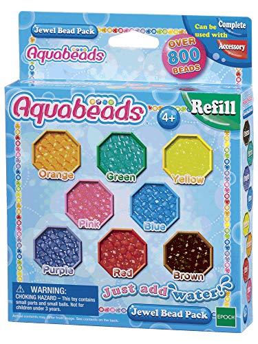 Aquabeads- Jewel Bead Pack, Perle 840 / col 8 Set di Perline per bricolage, Multicolore, 79178