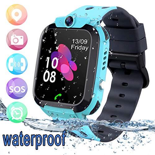Bambini Smart Watch Impermeabile - GPS/LBS Tracker Phone Orologio Intelligente Phone con giochi per...