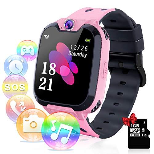 Smartwatch per Bambini con Lettore Musicale - Gioco Puzzle Telefono SOS Smart Watch con Scheda SD Sveglia...