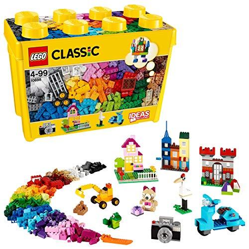 LEGO Classic Scatola Mattoncini Creativi Grande, Set di Costruzioni Divertenti, Contenitore Giocattoli...