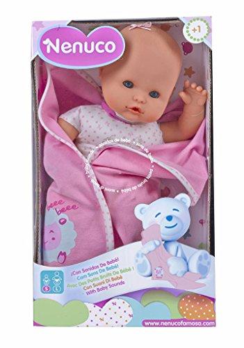 Nenuco Recién Nacido Bambola con Suoni di Bebe (Famosa 700012123)