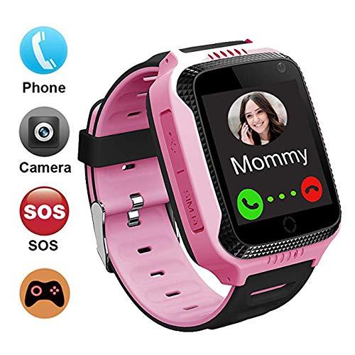 Kids Smartwatch Phone GPS Tracker per Bambini Impermeabile,  Localizzato pedometro con Chat Vocale,...