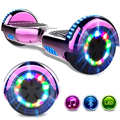 GeekMe Hoverboards 6.5 Pollici Scooter Elettrico Autoalimentato Hoverboards Bluetooth Lampade Incorporate...