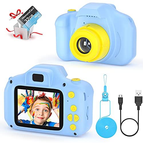 Fotocamera per Bambini Giocattolo Videocamera Digitale per Bambini Giocattolo per Bambini Schermo HD da 2...