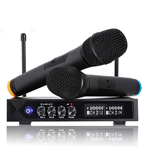 ROXTAK Microfono Senza Fili Bluetooth, Microfono Professionale con 2 Microfoni UHF per...