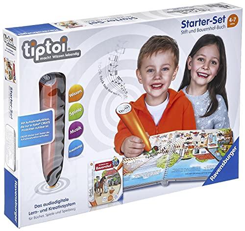 tiptoi® Starter-Set: Stift und Bauernhof-Buch: tiptoi® Stift mit Aufnahmefunktion und Buch 'Entdecke...