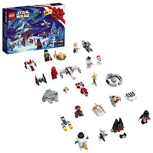 LEGO Star Wars Calendario dell'Avvento 2020, Mini Set di Costruzioni Natalizie con Astronavi e Personaggi...