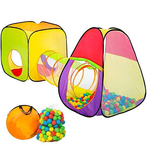 TecTake Tenda Giochi per Bambini | Pop Up Tenda da Gioco con Palline per Bambino | incl. 200 Palline +...