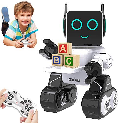 HBUDS Robot di Controllo Remoto RC per Bambini, Giocattolo di Robotica di Controllo del Suono Touch...
