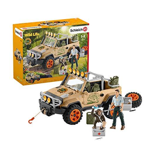 Wildlife- Vehicle with Winch 4X4, Multicolore, 27x15x14.5cm, 42410