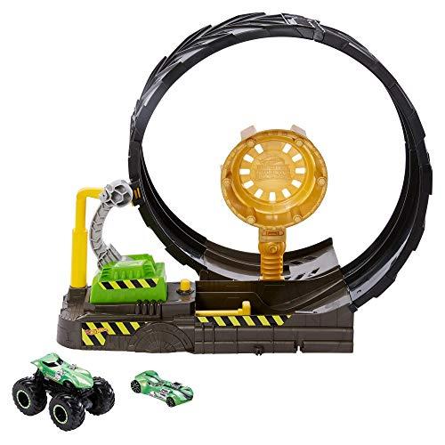 Hot Wheels- Sfida nel Loop, Playset Pista con Monster Truck e Macchinina 1:64 Giocattolo per Bambini 3+...