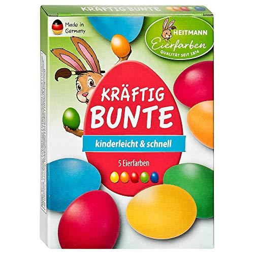 Heitmann, colori vivaci per uova di Pasqua – 5 colori liquidi freddi – per dipingere uova di Pasqua...
