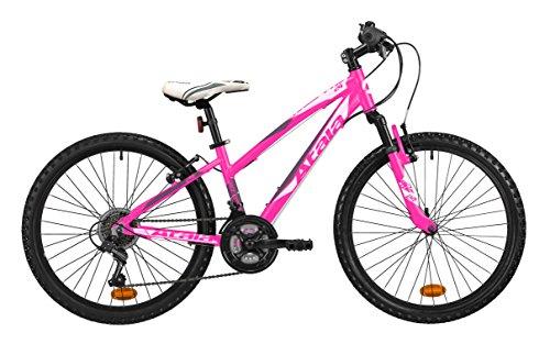 Mountain bike da ragazza Atala RACE COMP 24', colore rosa fuxia - antracite, indicata fino ad un'altezza...