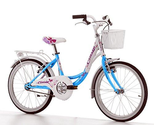 Cicli Cinzia Bicicletta 20' Citybike Liberty per Bimba, Senza Cambio, V-Brake Alluminio, Acqua...